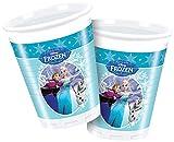 Disney 200ml Frozen Kunststoff Tassen, 8Stück in hellblau
