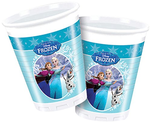 n Kunststoff Tassen, 8 Stück in hellblau (Frozen Olaf Party Supplies)