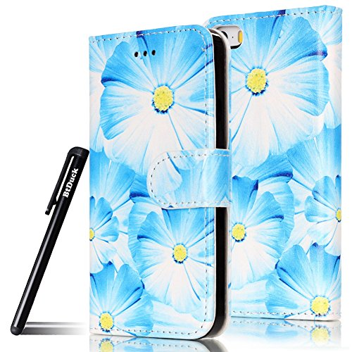 btduck-leather-case-for-apple-iphone-5-5s-se-blue-orchid-yellow-flower-buds-blue-petals-pu-stand-pai