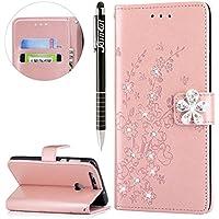 Huawei Honor 8 Hülle,SainCat Retro Schön 3D Pflaumenblüte Blumen Muster Ledertasche Handyhülle Brieftasche im... preisvergleich bei billige-tabletten.eu
