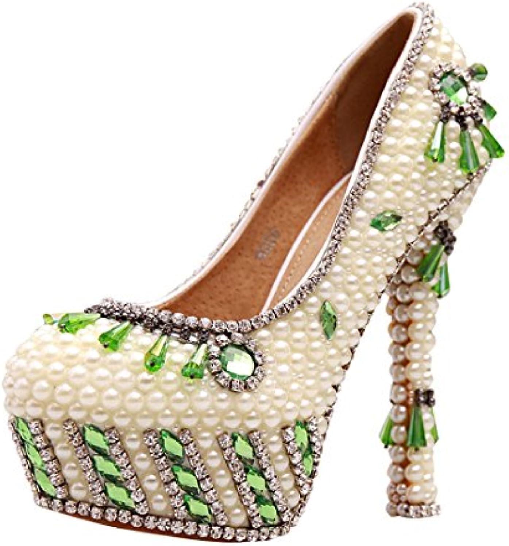 e19395dbcd39 MINITOO MZLL040 Women s Beading Beading Beading Stiletto High Heel Handmade  Satin Wedding Party Evening Prom Pumps Shoes B01908FSI6 Parent 72764f