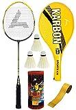 #4: Guru Karbon S-1 Edition Badminton Racquet set, Pack Of One Racquet, One Cover, 3 Shuttlecock & 1 Grip; Badminton Set; Badminton Racquet