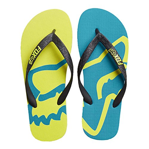 Infradito Fox Racing: Beached Flip Flop GR/RD Flo Yellow