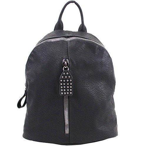 Hautefordiva , Damen Rucksackhandtasche braun Large schwarz