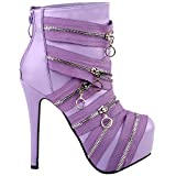 Show Story Purple Datum Tag Hochzeit Ladies Super High Heels, LF80845PP38, 38EU, lila