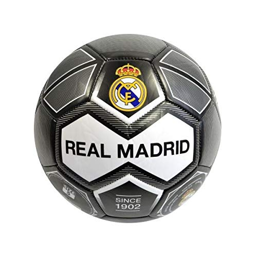 REALMADRID Real Madrid Balón de fútbol Unisex niños, Negro Talla 5
