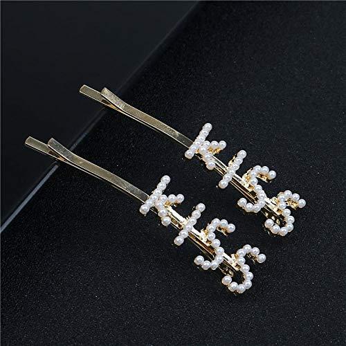Brief Haarnadeln Headwear Für Frauen Mädchen Perle Haarspangen Zubehör, Kiss ()