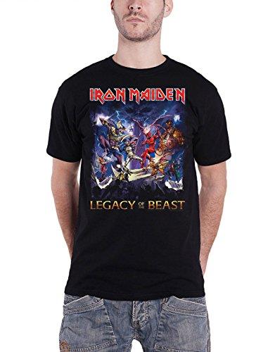Iron Maiden T Shirt Legacy Of The Beast Herren Schwarz Nue offiziell size XL (Black Beast Shirt)