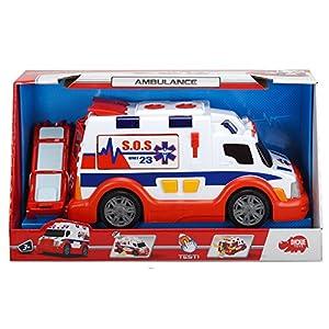 Dickie-203308360 Ambulancia, Azul, Rojo, Color Blanco (3308360)