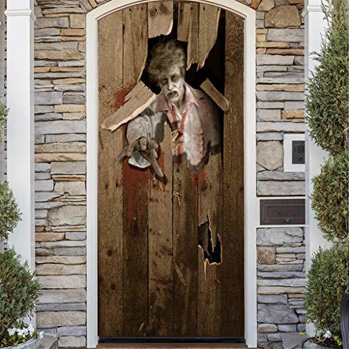 Mitlfuny Halloween coustems Kürbis Hexe Cosplay Gast Ghost Schicke Party Halloween deko,Außenhandel Neue Halloween kreative lustige Tür Aufkleber Glas Fenster Aufkleber (Body Bag Für Erwachsene Kostüm)