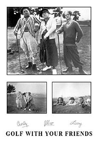 Three Stooges : Golf mit Ihren Freunden Poster Drucken (60,96 x 91,44 cm) (Three Golf Stooges)