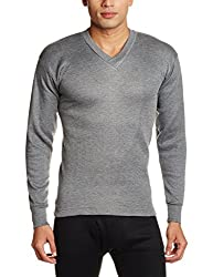 Rupa Thermocot Mens Cotton Thermal Top (8903978490632_AGNI V-N F-S -90_Grey)