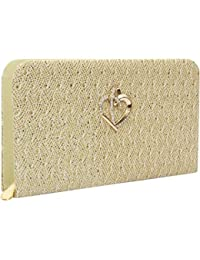 RapidCostore Premium PU Leather Women's And Girls Wallet Tan Clutch Purse Handbag - BIG TAN CLUTCH