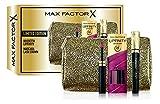 Max Factor - Confezione Regalo - Pochette con Rossetto Lunga Durata, Gloss Idratante Lipfinity Lip Colour 70 Spicy e Mascara Volumizzante Lash Crown