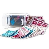 Ziatec Cross Tapes mit 102 oder 204 Pflaster, Akupunktur-Pflaster mit Gitternetzstruktur, Crosslinge Tape Schutzdose, Größe:Universalgröße, Farbe:mix…