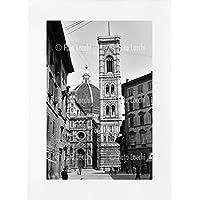 Archivio Foto Locchi Firenze – Stampa Fine Art su passepartout 50x70cm. – Immagine della cattedrale di Firenze negli anni '30