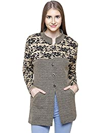 Matelco Brown Wool Buttoned Coat/Cardigan With Pockets For Winters
