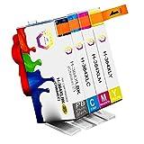 ZR-Printing Remplacement des cartouches d'encre HP 364 364XL Compatible avec HP Photosmart 5510 5520 5522 6520 B8550 C5388, HP Officejet 4620, HP Deskjet 3070A (1 noir, 1 cyan, 1 magenta, 1 jaune)