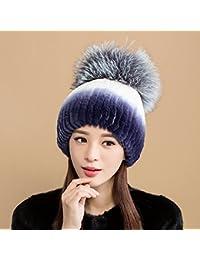 Sciarpe Xiaolin- Cappello Inverno Thicker Tenere Caldo Cappello Lavorato A  Maglia All aperto A 494c6309b26a