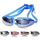 a8a03b7622 Semoss Unisex Gafas de Natacion Anti Niebla Gafas Piscina Proteccion UV  Swimming Goggles Ajustable Para Hombres