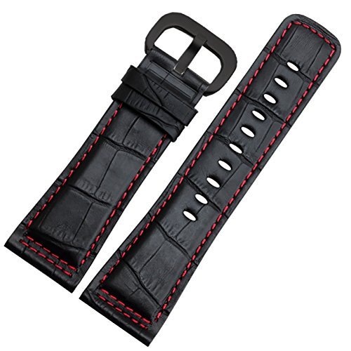 new-genuine-leather-watch-strap-28mm-black-buckle-red-stitches-for-sevenfriday