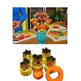 Tagliafrutta ,5 in 1 set Affettatrice per verdure e frutta, a forma di stampo, facile da usare (1)