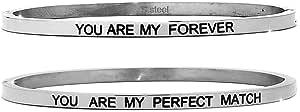 Beloved Bracciale da donna in acciaio Emozionale - frasi, pensieri, parole con charms - incisione su due lati - colore silver