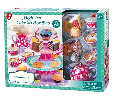 Playgo Ensemble Jeu de thé en jouet pour enfants filles garçons 28 pièces