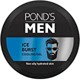 Ponds Men Ice Burst Cooling Face Gel, Non-Oily And Hydrated Look, Enriched With Menthol And Vitamin E, Non-Sticky Light Weigh