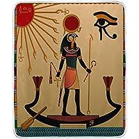 Wamika Home Decor Religion of Ancient Egipto - Manta para sofá de Cama, Ligera, para Viajes, acampadas, 152,4 x 127 cm, tamaño de Manta para niños y Mujeres