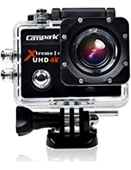Campark 4K UHD Sport Action Camera,Underwater Waterproof Camera,16MP 1080P Full HD 2.0 Inch WIFI 170°Wide Angle Lens HDMI Time Lapse Slow Motion