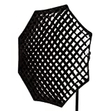 PIXAPRO Bowens S- type, 95 cm Oktagonale Softbox, achteckig, 5 cm, mit Grid/Wabe octagbox EssentialPhoto 95 cm, achtecki