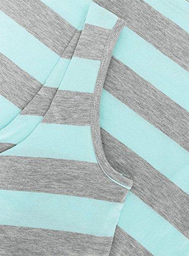 oodji Ultra Femme Robe-Débardeur Turquoise (7323S)
