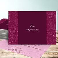 Einladungskarten 80 Geburtstag Selbst Gestalten, Card De Luxe 5 Karten,  Horizontal Einfach 148x105 Inkl