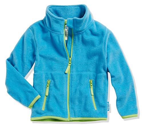 Playshoes Mädchen Fleece farbig abgesetzt Jacke, Blau (aquablau 23), 86 -