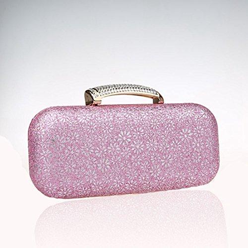 KAXIDY Donne Borsa Pochette Borsa Sacchetto Eleganti Pochette Da Sera (Blu) Rosa