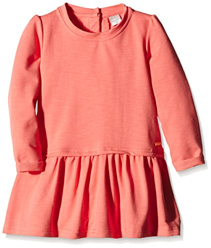 NAME IT Mädchen Kleid NITOSELMA M SWEAT TUNIC 615 GER, Einfarbig, Gr. 104, Rosa (Georgia Peach)