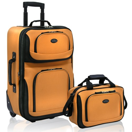 us-traveler-rio-two-piece-expandable-carry-on-luggage-set-mustard-one-size