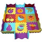 Protector Suelo Bebe Alfombras Puzzle Alfombra Goma Eva Bebe Jigsaw Puzzle mat Infantiles con Valla no Toxica 006B