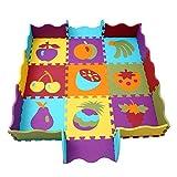 Mattonelle Puzzle Bambini Tappeto Puzzle Bambini Tappetini Puzzle per Bambini 25 Pezzi Con La Recinzione meiqicool 006B immagine