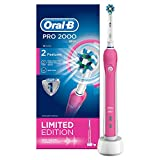 Oral-B Pro 2000 Crossaction Electric Rechargeable Toothbrush Powered by Braun – Pink – Ships with a UK 2 pin plug