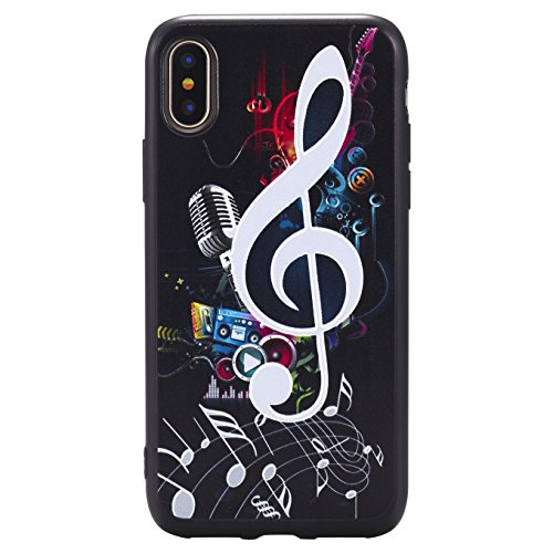 Coque Pour iPhone X, iPhone 10 Coque,AyiHuan Ultra-Thin Etui Silicone Gel TPU Souple Coque Back Case Cover pour Apple iPhone X (2017),L2 L4