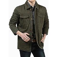 Hombres chaqueta hombre chaqueta casual de algodón B, XXL