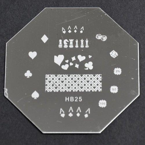 Nail Art emboutissage des tôles - HB25 CODE : HB25-plaque