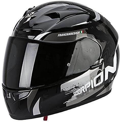 SCORPION EXO-710 AIR CERBERUS casco integral Negro - Plata Talla: L
