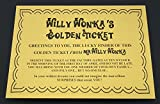 Willy Wonka Golden Ticket The Perfect Gift for a Party Pack or to Hide in a Chocolate Bar - Great fun for Book Day! Delightful for Roald Dahl Day