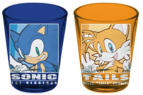 Sonic the Hedgehog and Tails Schnapsgläser, 2 Stück