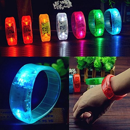 bazaar-controllo-vocale-led-luce-illumina-braccialetto-braccialetti-concerto-bangle-partito