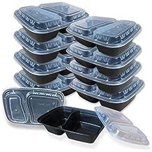 [10Pack] 2vano BPA free Meal Prep Containers takeaway box microonde freezer coperchio rinforzato in lavastoviglie Bento lunch box. Riutilizzabili impilabile