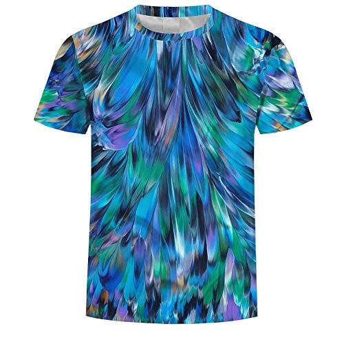 LeeQn Unisex 3D Gedruckt T-Shirt Kurzarm Sweatshirt Pullover Tees Für Männer Jungen Frauen Bunt M